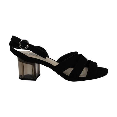 Bar III Womens Rae Open Toe Ankle Strap Platform Pumps - 7.5