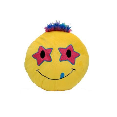 Cushion Emotion Stuffed Plush Toy Pillow Bed Decor Emoji- Rock Star Eyes