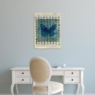 Easy Art Prints Elena Ray's 'Butterfly Calligraphy II' Premium Canvas Art