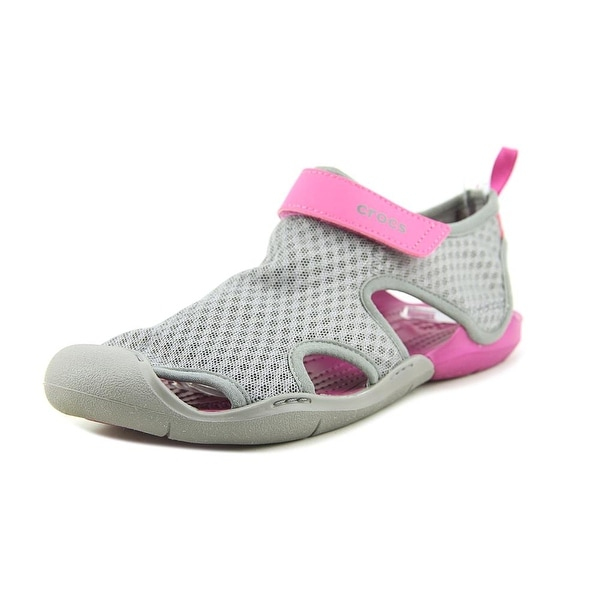 Crocs Swiftwater Mesh Sandal Women Round Toe Synthetic Gray Sport Sandal