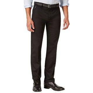 Calvin Klein CK Dobby Textured Dress Pants Black Solid 34 x 32