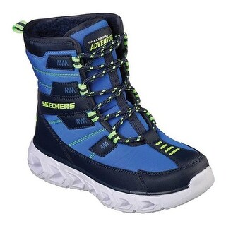 Skechers Boys' S Lights Hypno-Flash 2.0 Super Bright Boot Blue/Navy