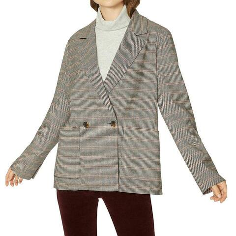 Sanctuary Women's Jacket Black Size XS Houndstooth Double Breasted