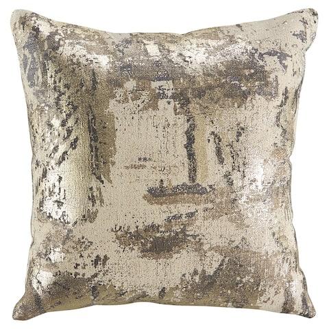 Esben Metallic Foil Glam Throw Pillow