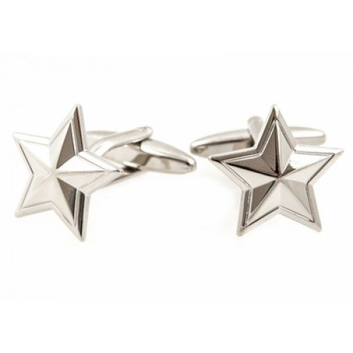Colonial Silver Star Northeast Cufflinks