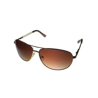 Kenneth Cole Reaction Sunglass Gold Metal Aviator, Smoke Lens KC1069 772 - Medium