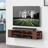 Fitueyes  Wall Mounted Audio/Video Console wood grain for 42 to 60 inch vizio/ Sumsung/sony TV