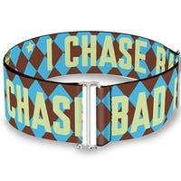 Wonder Woman Logo I Chase Bad Boys Diamonds Blue Brown Cinch Waist Belt   ONE SIZE