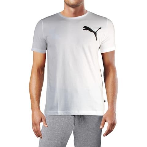 Puma Mens Big Logo Logo T-Shirt Regular Fit Crewneck