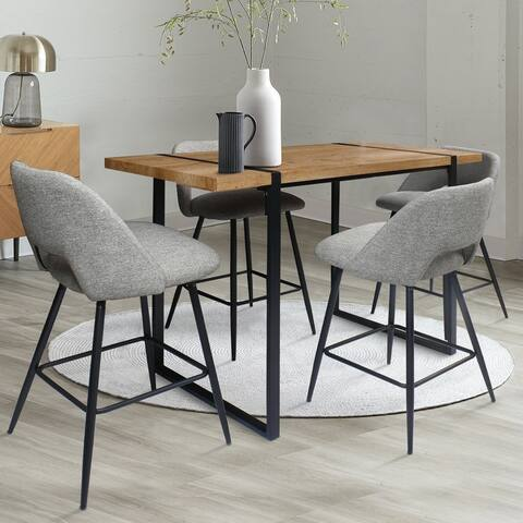5-Piece Modern Upholstery Bar Table Set