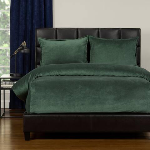 Mixology Padma Velvet 3 Piece Bed Cap Comforter Set