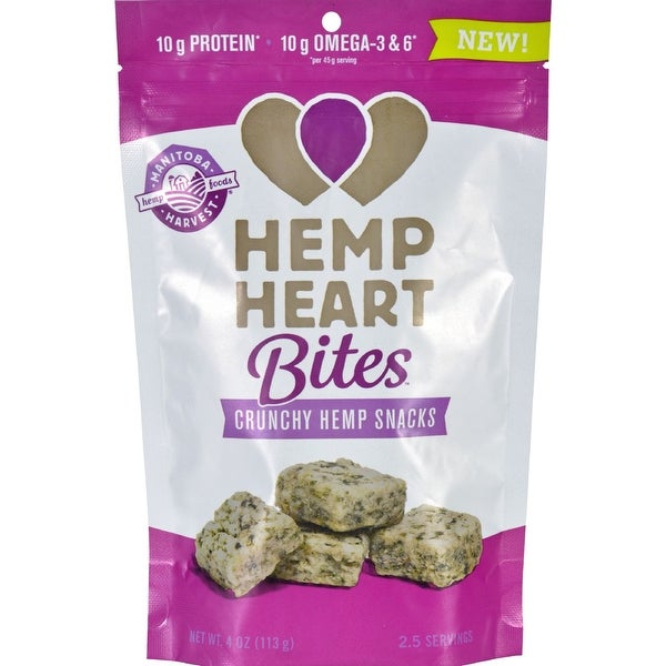 Manitoba Harvest Hemp Heart Bites - Cinnamon - 4 oz - Case of 12