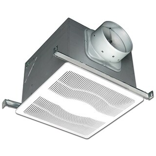 Air King EVDH 130 CFM 0.6 Sone Ceiling Mounted Variable Speed Humidity Sensing Energy Star Rated Exhaust Fan - White