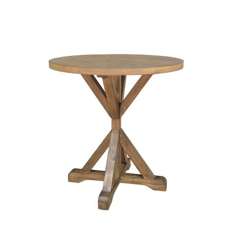 Duke X-base Round Accent Table