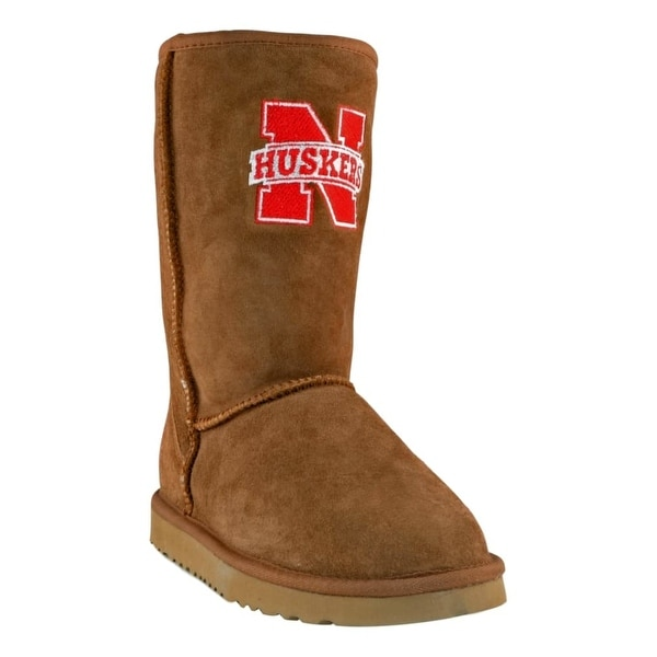 Gameday Boots Womens Nebraska Sheepskin Embroidered NB-RL1012-1