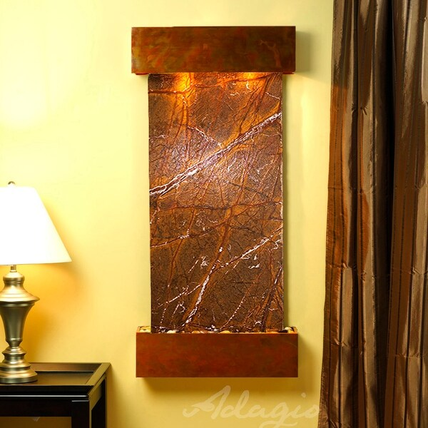 Cascade Springs Fountain - Rustic Copper - Squared Edges - Choose Options