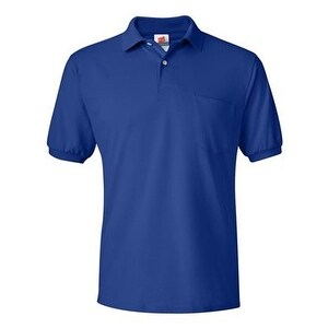 Hanes Ecosmart Jersey Sport Shirt with a Pocket - Deep Royal - XL