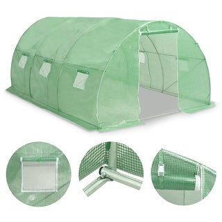 "Link to vidaXL Greenhouse145.3 ft² 177.2""x18.1""x78.7"" Similar Items in Gardening"