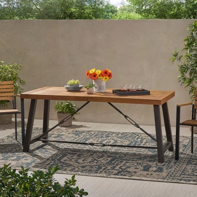 """Catriona Modern Industrial Dining Table by Christopher Knight Home - 70.00"""" W x 33.00"""" D x 29.50"""" H"""