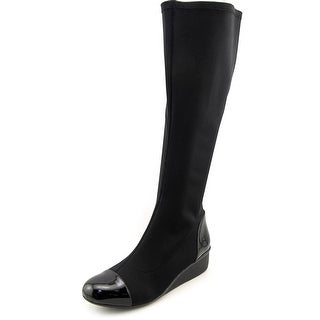 Ros Hommerson Ebony Women Round Toe Canvas Knee High Boot