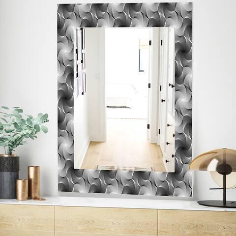 Designart 'Monochrome Hexagon Geometric Pattern' Modern Mirror - Vanity Mirror