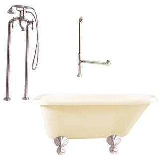"Giagni LA2 Augusta 54-3/10"" Free Standing Soaking Tub Package - Includes Tub, Tu"