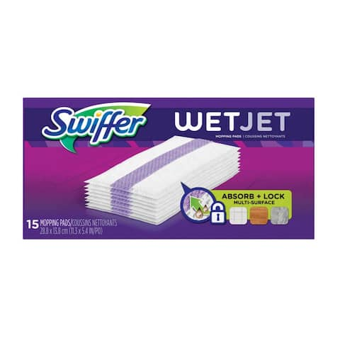 Swiffer 99042 Wet Jet Mop Pad, 15 Count