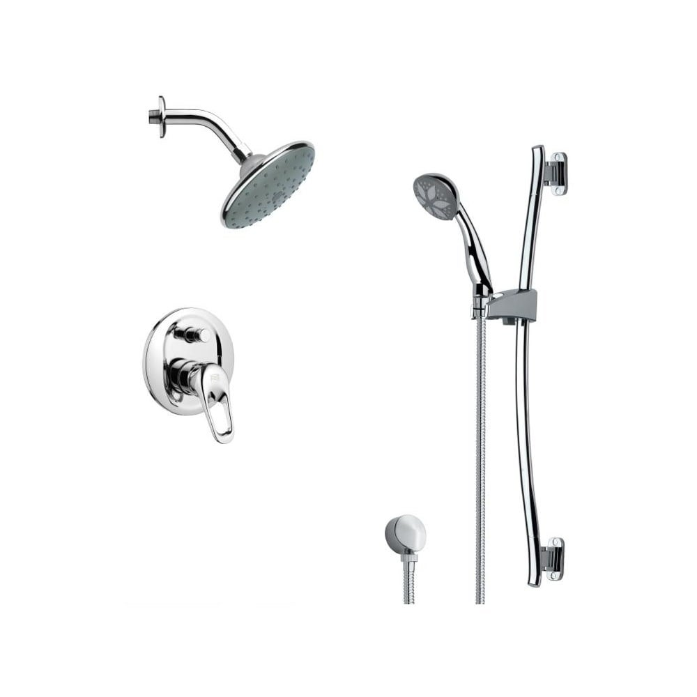 Nameeks SFR7190  Remer 2.5 GPM Multi Function Rain Shower with Handshower, Slide Bar and Rough In - Chrome