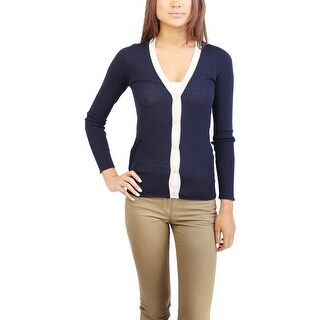 Prads Women's Virgin Wool Cardigan Two Tone