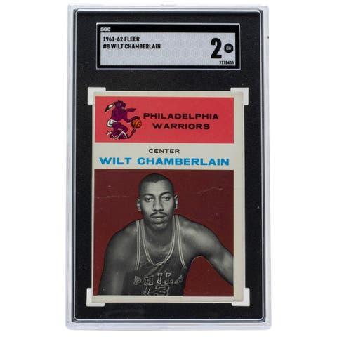 Wilt Chamberlain 1961 Fleer #8 Warriors Basketball Card SGC Good 2