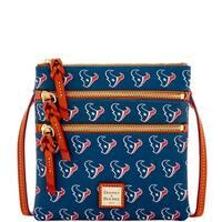 Dooney & Bourke NFL Houston Texans Triple Zip Crossbody Shoulder Bag (Introduced by Dooney & Bourke at $128 in Aug 2016)