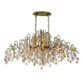 Eurofase Lighting 29061 Campobasso 10 Light Chandelier with Hand Strung Glass Wafers