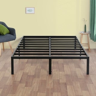 Link to Sleeplanner 14-inch Modern Black Metal Platform Bed Frame Similar Items in Bedroom Furniture