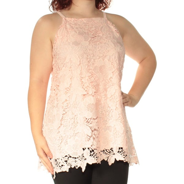 f8713f79b07 Shop Womens Pink Sleeveless Square Neck Top Size 16 - On Sale - Free  Shipping On Orders Over $45 - Overstock.com - 23454628