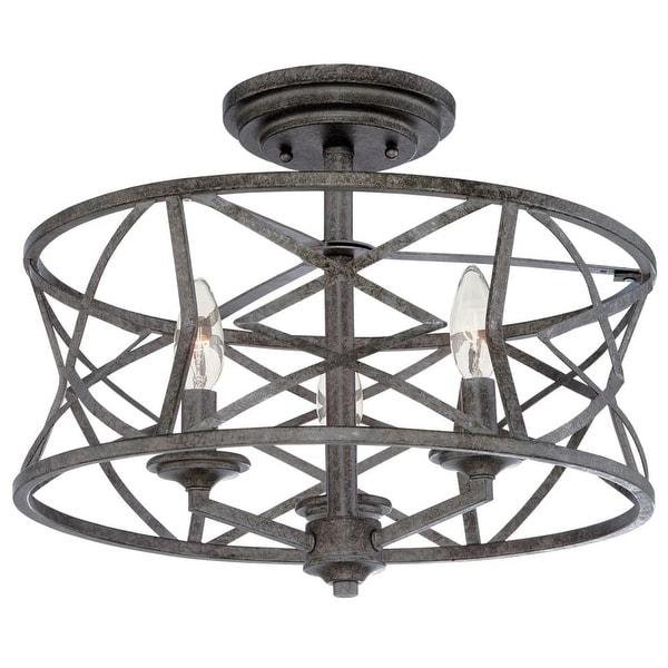 "Millennium Lighting 2173 Lakewood 3-Light 16"" Wide Semi-Flush Ceiling Fixture"