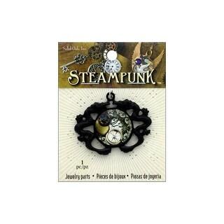 Solid Oak Steampunk Pendant Sea Serpent Gunmetal
