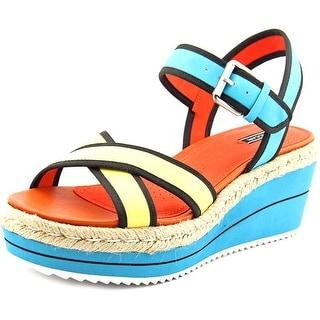 Maccari MAYA Open Toe Leather Wedge Heel