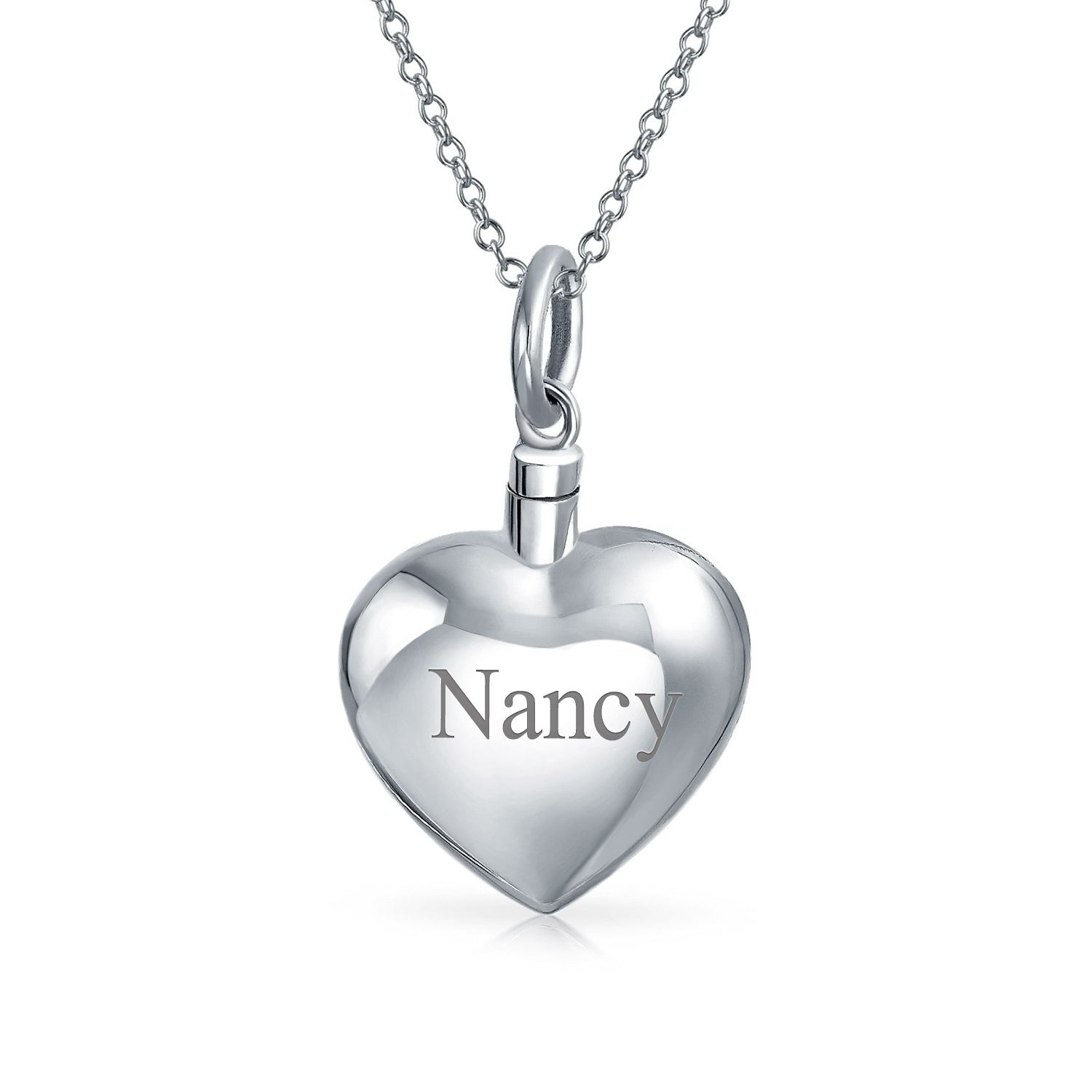 Shop Large Engravable Puff Heart Shape Locket Pendant For Women Memorial Cremation Urn Necklace For Ashes 925 Sterling Silver 16 Overstock 22046340