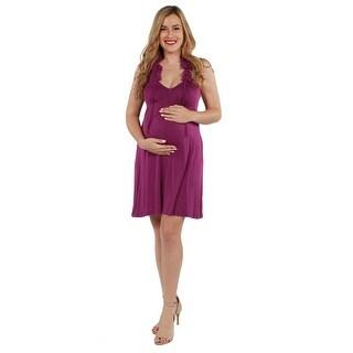 24seven Comfort Apparel Kyra Maternity Dress