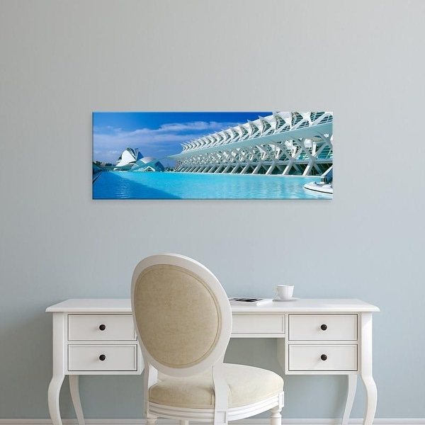 Easy Art Prints Panoramic Image 'L'Hemisferic Planetarium, El Palau De Les Arts ReinSofia, Valencia, Spain' Canvas Art
