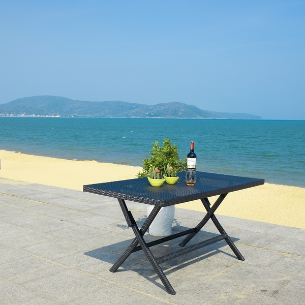 SAFAVIEH Outdoor Living Akita Folding Table. Opens flyout.