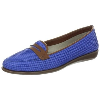 The Flexx Womens Leather Slip On Penny Loafers - 9 medium (b,m)