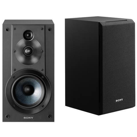 Sony SSCS5 3-Way 3-Driver Bookshelf Speaker System (Black) - Black