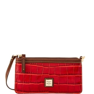 Dooney & Bourke Croco Fino Large Slim Wristlet (Introduced by Dooney & Bourke at $88 in Sep 2016) - Red