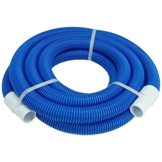 Blue Blow Molded PE Swimming Pool Vacuum Hose With White Cuffs 21\' x 1.25 -  N/A | Overstock.com Shopping - The Best Deals on Accent Pieces