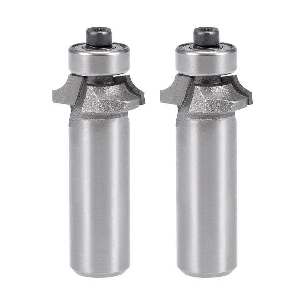2Pcs Router Bit 1/2 Shank 1/4¡®¡¯ Dia Round Corner Tungsten for Milling Cutter