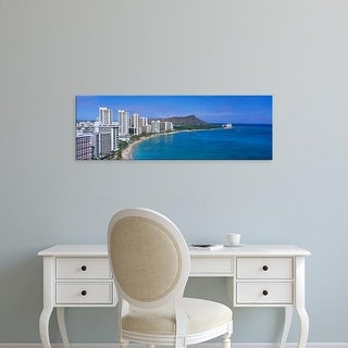 Easy Art Prints Panoramic Images's 'Waikiki Honolulu Oahu HI USA' Premium Canvas Art
