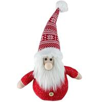 "8"" Red and White Table Top Christmas Gnome Decoration"