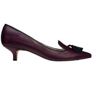 Bailarinas SUSAN ROJ Burgundy Classic Kitten Heel Pump