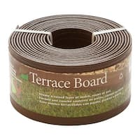 "Master Mark 94320 Terrace Board Landscape Edging, Brown, 4"" x 20'"